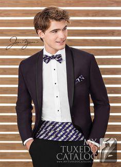 Plum 'Calypso' Tuxedo from http://www.mytuxedocatalog.com/catalog/rental-tuxedos-and-suits/c1028-plum-calypso-tuxedo/