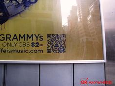 The Grammys are using QR Codes to promote the 53rd annual music awards event on CBS.