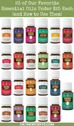 So many Young Living Essential Oils are incredibly affordable! Here are 23 of our favorite essential oils under $25 each and how to use them.