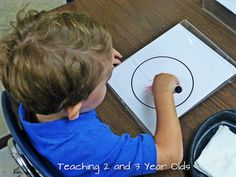 Teaching 2 and 3 Year Olds: Using Plexi Glass Sign Holders