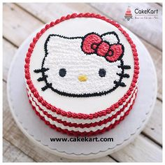 """Hello Kitty Cake! Just need it to say """"HAPPY BIRTHDAY CORAL"""""""