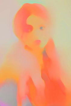 Jennis Li Cheng Tien #painting #artist #orange #red #pink #face