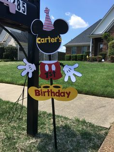 Mickey Mouse Yard sign