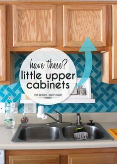 Storage Ideas for Little Upper Cabinets | Great ideas and solutions for using those small upper cabinets in your kitchen! #smallkitchen #smallkitchendesign