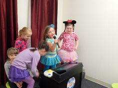 Rocking the karaoke stage in Elly's Diner.
