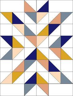 Motifs Granny Square, Half Square Triangle Quilts Pattern, Quilt Square Patterns, Barn Quilt Patterns, Patchwork Quilt Patterns, Beginner Quilt Patterns, Quilting Tutorials, Quilting Projects, Quilting Ideas