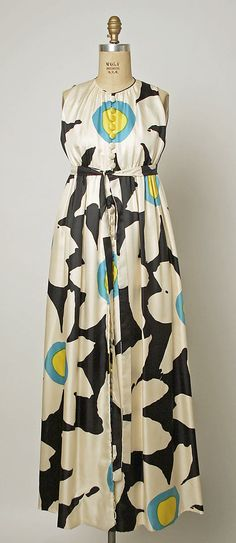 Evening Ensemble, Donald Brooks, ca. 1958, American, silk