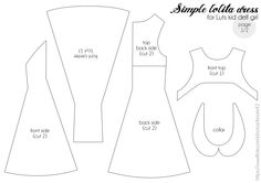 Dress pattern for BJD luts kid delf girl (page 1) par Kinomi ✿