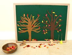 Invitation to Play: Fall Felt Trees and Leaves - Buggy and Buddy