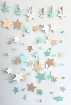 Mint Shimmer Gold and Ivory Home Decor Star by SassyPantsNebraska