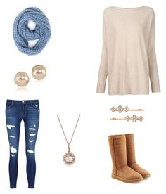 """""""Boarderline cozy"""" by destinyl734 ❤ liked on Polyvore featuring J Brand, Vince, Paula Bianco, UGG, Carolee, Bloomingdale's and Henri Bendel"""