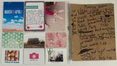 Pages created by Rhonda Steed featuring the Confetti Edition, Flea Market Mini Kit (retired), and Doily Photo Overlays