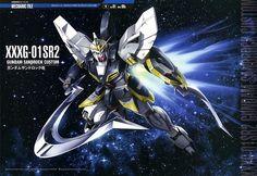 XXXG-01SR2 Gundam Sandrock Kai (aka Sandrock Kai or Gundam Zero-Four), is the upgraded version of XXXG-01SR Gundam Sandrock in Mobile Suit Gundam Wing and in Mobile Suit Gundam Wing: Endless Waltz. It is piloted by Quatre Raberba Winner.