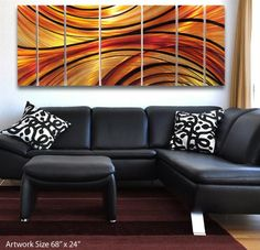 'Mirage' Modern Abstract Metal Wall Art Painting Sculpture Decor * Continue to the product at the image link. (This is an affiliate link and I receive a commission for the sales)