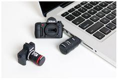 Camera USB Drives - Adorable, fun gift!  Buy Here: http://photojojo.com/store/awesomeness/camera-usb/mcpactions