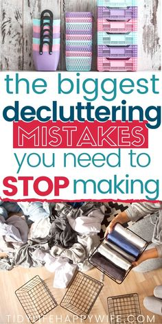 Decluttering Mistakes You Need to STOP Making - - Before you start decluttering, take a minute to learn from others' misfortunes and avoid the biggest decluttering mistakes that trip people up. Household Cleaning Tips, House Cleaning Tips, Cleaning Hacks, Cleaning Schedules, Spring Cleaning, Declutter Your Home, Organizing Your Home, Organising, Organizing Ideas