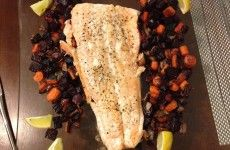 Go-to dish, Easy Salmon with Beets and Carrots