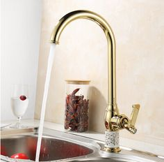 Reviews Kitchen faucet Golden Copper cold and hot water tap Sink faucet Vegetable washing basin sink mixer 360 degree rotating faucet ☁ For Sale Kitchen faucet Golden Copper cold and hot water ta Price  Kitchen faucet Golden Copper cold and hot water tap Sink faucet Vegeta  Information : http://shop.flowmaker.info/YvUlw    Kitchen faucet Golden Copper cold and hot water tap Sink faucet Vegetable washing basin sink mixer 360 degree rotating faucetYour like Kitchen faucet Golden Copper cold…
