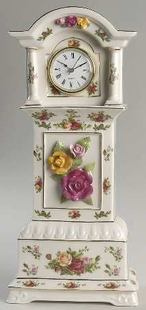 ♥Royal Albert Old Country Roses Clock♥