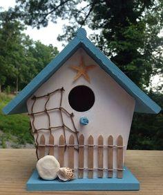 Beach birdhouse beach house bird house ocean starfish
