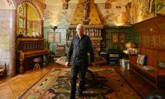 Jimmy Page in the ornate drawing room of Tower House