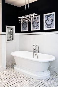 #carrara #marble #mosaic floor bathroom floor and wall - like look