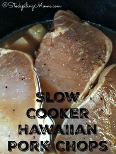 Slow Cooker Hawaiian Pork Chops Recipe is so flavorful, making it a great easy freeze slow cooker supper!