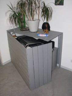 Bureau Cach En Palettes Recycles Pallet Hidden Desk Bureau