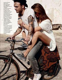the-cab-rock:  Alex DeLeon of The Cab and model Josephine Skriver in the July edition of Elle Italia!