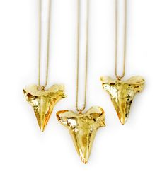 JAWS necklace  gold mako by keijewelry on Etsy, $92.00