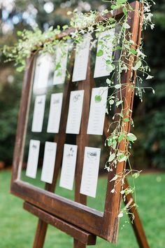 seating charts - photo by Amanda K Photography http://ruffledblog.com/garden-pacific-northwest-wedding