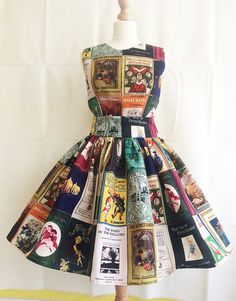 Image of Book Dress, Uk, Childrens Literature Book covers Dress By Rooby Lane