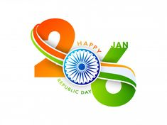 26 january text in saffron Premium Vecto. Republic Day Images Hd, Republic Day Status, Republic Day India, Happy Independence Day Status, India Independence, Happy Republic Day Wallpaper, Rakhi Greetings, Happy Dussehra Wallpapers, Indian Flag Images