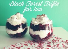 Black Forest Trifle for two.