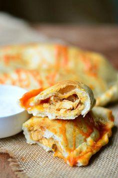 Homemade Buffalo Chicken Calzones | willcookforsmiles.com