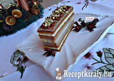 Karácsonyi mézes karamellás szelet | Receptkirály.hu Christmas Sweets, Xmas, Czech Recipes, Ethnic Recipes, Eastern European Recipes, Vanilla Cake, Tiramisu, Cheesecake, Dessert Recipes
