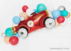 Car Foil Mylar Balloon – Momo Party 36 Inch Balloons, Helium Balloons, Race Car Party, Race Cars, Helium Tank, Car Themed Parties, Bunny Tail, Modern Kids, The Balloon