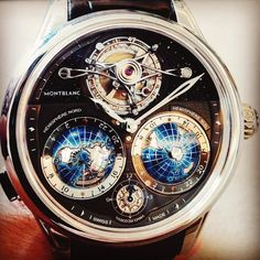 Today I watched the #world go by with @montblanc. Awe inspiring new #Villeret #Tourbillon Cylindrique Geosphères Vasco Da Gama #timepiece…