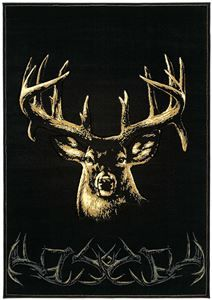 Delectably-Yours.com Hand Carved Buck Wear Moment of Truth Deer Rug by United Weavers - 4 Sizes and a Hall Runner  #DelectablyYours Buck Wear Rugs & Buckmark Bed & Bath Home Decor