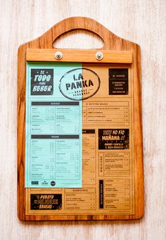 Saigon take out menu / La Panka