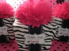 The cutest zebra favors!!