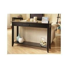 Modern Console Table Drawer Shelf Storage Home Decor Living Room Furniture Chair #ConvenienceConcepts #Contemporary