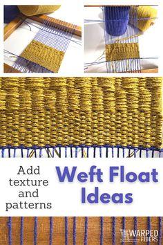 Weaving Loom Diy, Weaving Projects, Tapestry Weaving, Art Techniques, Fiber Art, Weave, Ads, Tools, Texture