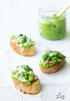 pea & bean crostini