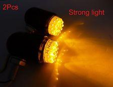 Universal Motorcycle Yellow Fog Lights 2x ATV Dirtbike Bullet 12V LED Lights NEW