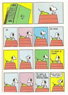 Snoopy writing. :)