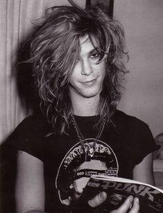 Duff McKagan. His hair is amazing.