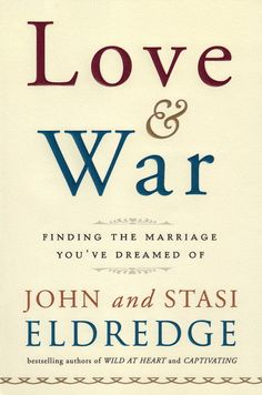 """John and Stasi begin Love & War with an obvious confession: Marriage is fabulously hard. But beneath and behind the inevitable tensions a man and woman """"locked in the same submarine"""" are going to have, the real battle is against the work of the Enemy, who plots and schemes to tear love apart. The Eldredges show how couples can win """"by fighting for each other, instead of against each other."""" As they say, """"We live in a great love story, set in the midst of war."""""""