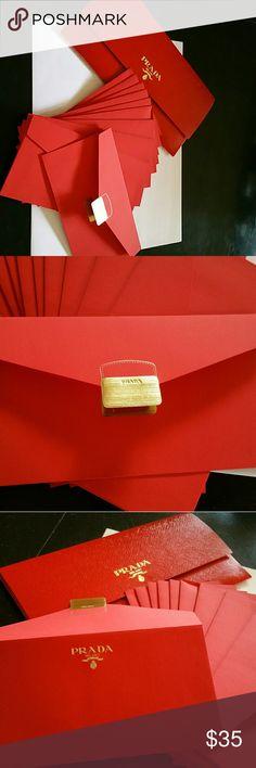 Prada Red Envelopes Petite, Red Prada note Envelopes Prada Other