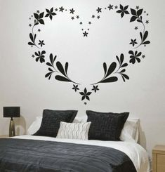 Bedroom wall stickers are an easy way to change the look of a bedroom. Bedroom wall stickers come in a wide array of sizes from small, coin-sized stickers Bedroom Stickers, Wall Decals For Bedroom, Bedroom Murals, Wall Stickers Murals, Wall Murals, Bedroom Ideas, Wall Art, Wall Designs For Bedroom, Decals For Walls